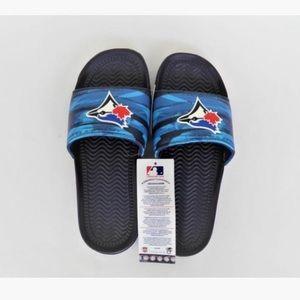 😉HP⭐️ NWOB Toronto Blue Jays Men's Logo Slides 40